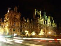 Hotel de ville de París (ayuntamiento) imagen de archivo
