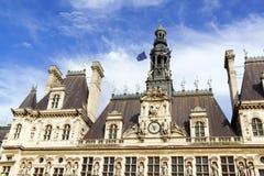 Hotel de Ville de Paris (City Hall) in summer Royalty Free Stock Photo