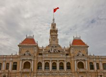 Hotel de Ville de Saigon (1908), Ho Chi Minh city, Vietnam Royalty Free Stock Photography