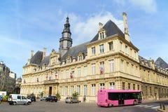Hotel de Ville em Reims (câmara municipal), França fotografia de stock royalty free