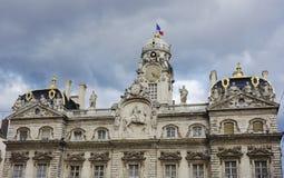 Hotel de Ville en Lyon Foto de archivo libre de regalías