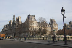 Hotel de Ville en París Imágenes de archivo libres de regalías