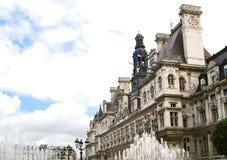 Hotel de Ville en París Imagenes de archivo