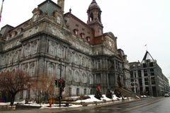 Hotel DE ville - de Oude Haven Montreal Canada van stadhuismontreal stock afbeeldingen