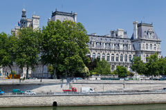 Hotel de Ville Parigi Fotografia Stock Libera da Diritti