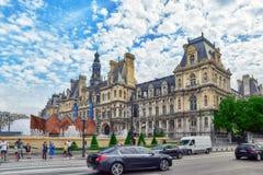 Hotel de Ville a Parigi Fotografie Stock Libere da Diritti