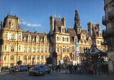 Hotel DE Ville in Parijs Stock Foto's