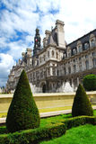 Hotel de Ville in Paris stock photo