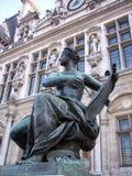 Hotel de ville, paris Stock Images