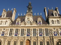 Hotel De Ville in Paris Royalty Free Stock Images