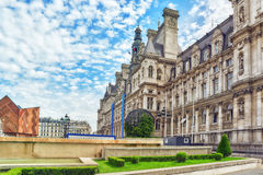 Hotel de Ville in Paris, is the building housing city's local ad Royalty Free Stock Image
