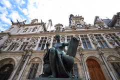 Hotel de Ville - Paris city hall Royalty Free Stock Image