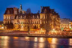 Hotel de Ville, Paris. The Hotel de Ville (City Hall) of Paris Royalty Free Stock Photos