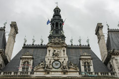 Hotel de Ville, Paris. Paris City Hall building, architectural details Royalty Free Stock Photography