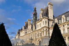 The Hotel de Ville in Paris Royalty Free Stock Photos
