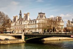The Hotel de Ville in Paris Stock Photography