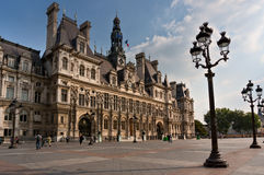 Hotel de Ville in Paris Royalty Free Stock Photography