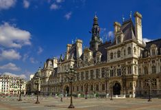 Hotel de Ville, Paris, France Stock Image