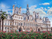 The Hotel de Ville in Paris, France. Royalty Free Stock Images