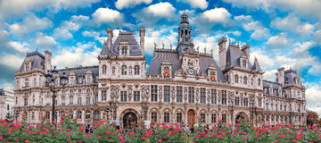 The Hotel de Ville in Paris, France. Stock Photo