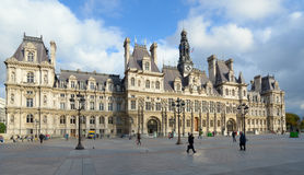 Hotel de Ville in Paris Stock Photos