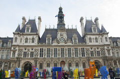 Hotel de Ville in Paris Royalty Free Stock Images
