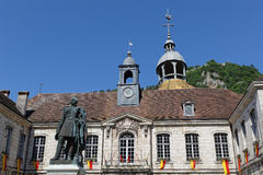 The Hotel de ville of Salins-Les-Bains Royalty Free Stock Photos