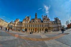 Hotel De Ville view in Paris, France Stock Photo