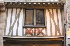 Hotel in de werfabdij van Saint Michel Mont. Royalty-vrije Stock Fotografie