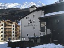 Hotel de Zermatt, Suiza Fotografía de archivo