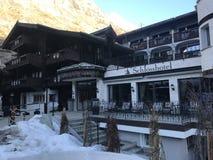 Hotel de Zermatt, Suiza Fotos de archivo libres de regalías