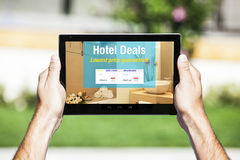 Hotel Deals website. Royalty Free Stock Photo