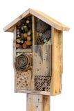 Hotel decorativo e Ladybird dell'insetto dell'insetto del giardino di legno della Camera e Fotografie Stock Libere da Diritti