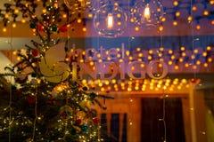 Hotel del añil, Londres, Reino Unido 31 de diciembre de 2017 Interior mágico Ch Fotos de archivo