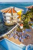 Hotel del acuario de Decameron en San Andres Island Imágenes de archivo libres de regalías