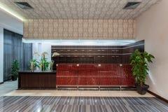 Hotel del arbolado - recepción fotos de archivo