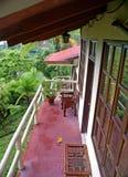 Hotel del bilancio del balcone in Costa Rica Immagine Stock