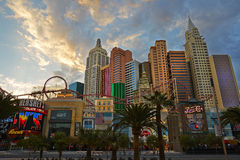 Hotel del casino de Nueva York Nueva York en Las Vegas imágenes de archivo libres de regalías