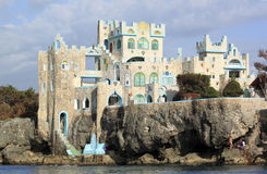 Hotel del castello della caverna del blu Immagine Stock