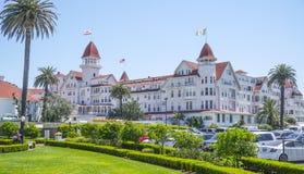 Hotel del Coronado at Coronado Beach - SAN DIEGO - CALIFORNIA - APRIL 21, 2017 royalty free stock image