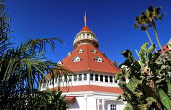 Hotel del Coronado on Coronado Island. Coronado, San Diego, California, USA - February 4, 2018 - Hotel del Coronado on Coronado Island stock photo