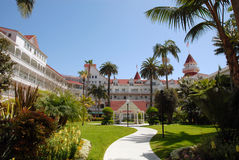 Hotel del Coronado courtyard. The courtyard of the majestic Hotel del Coronado in San Diego, California Stock Image