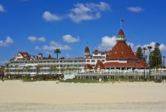 Hotel Del Coronado mit Sand Stockfotografie