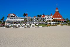 Hotel Del Coronado in San Diego Stockbilder