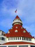 Hotel Del Coronado San Diego. A roof of the Hotel Del Coronado in San Diego from the movie Someone like it hot with Marilyn Monroe and Jack Lemmon Royalty Free Stock Images