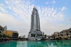 Hotel del lago Burj Dubai Immagine Stock Libera da Diritti