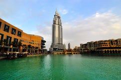 Hotel del lago Burj Dubai Fotografia Stock Libera da Diritti