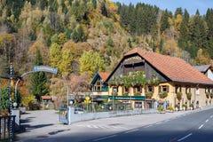 Hotel del país en el municipio de Krems en Kaernten austria Fotos de archivo libres de regalías