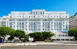 Hotel del palacio de Copacabana Imágenes de archivo libres de regalías
