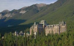 Hotel del resorte de Banff Fotos de archivo libres de regalías